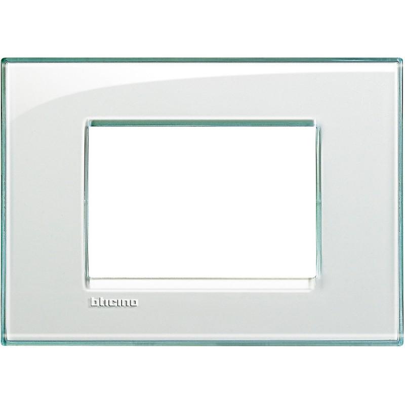 BTICINO LIVINGLIGHT PLAQUE 3 MODULES QUADRA LNA4803KA