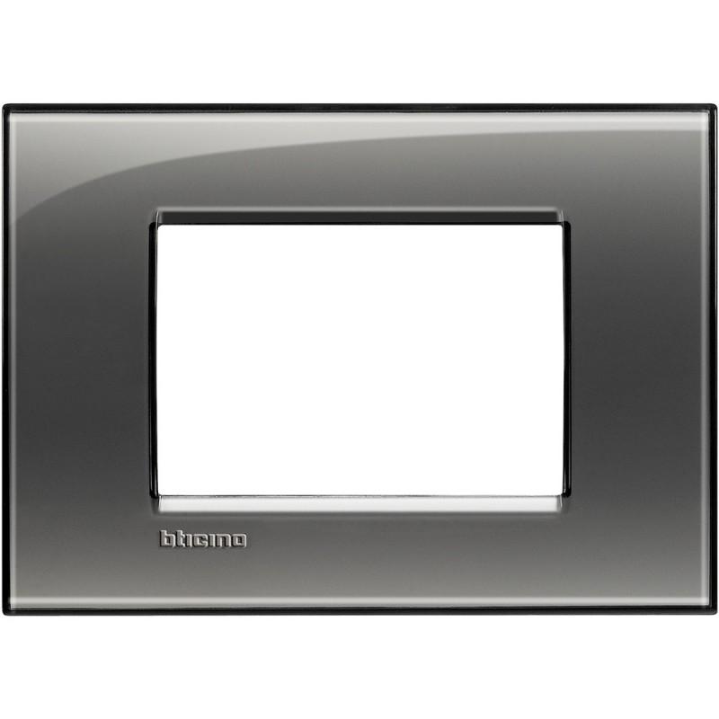 BTICINO LIVINGLIGHT PLACCA 3 MODULI QUADRA LNA4803KF