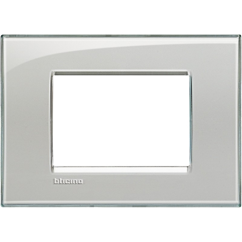 BTICINO LIVINGLIGHT PLAQUE 3 MODULES QUADRA LNA4803KG