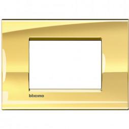 BTICINO LIVINGLIGHT PLAQUE 3 MODULES QUADRA LNA4803OA