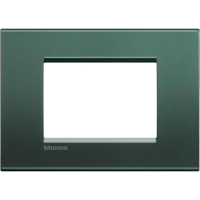 BTICINO LIVINGLIGHT PLACCA 3 MODULI QUADRA LNA4803PK
