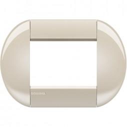 BTICINO LIVINGLIGHT PLACCA TONDA 3 MODULI LNB4803CL