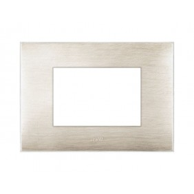Placca Ave YOUNG44 colore beige spazzolato 3 posti 44PJ03BEG/3D