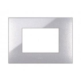 Placca Ave YOUNG44 colore grigio metallizato 3 posti 44PJ03GM