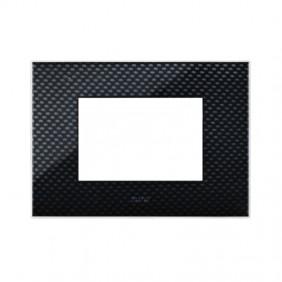 Plaque Ave YOUNG44 color carbon dark 3D 4 places 44PJ04CBS/3D