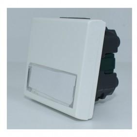 Pulsante Ave con targhetta portanome BANQUISE per scatola tonda 45B88S