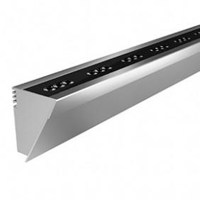 Applique Prisma OMBRA 500 ELL 20W 3000K grigio metallizzato 304934