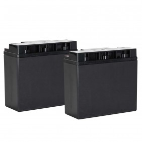 Pair of Battery RCF ACBAT18 12V EN54-4 13360317