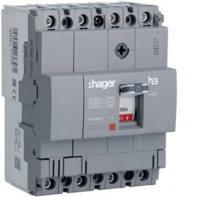 Circuit breaker Hager 4P 100A 18KA X160 moulded case circuit HDA101L