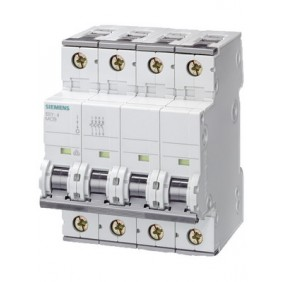 Interruttore Magnetotermico Siemens 4P 10A 10kA Tipo B 4 Moduli