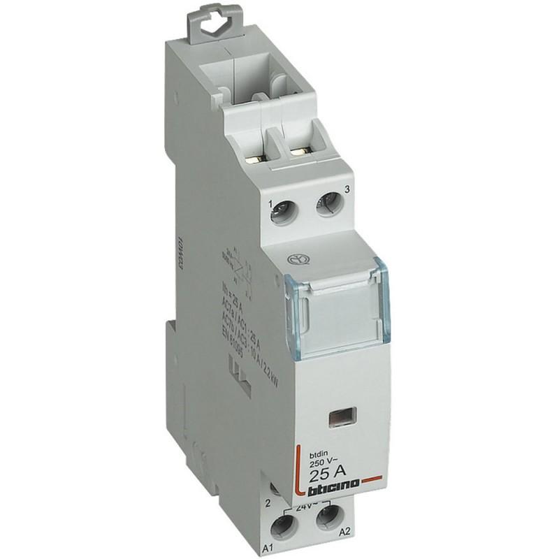 BTICINO CONTACTOR AC7A 2NO 25A 230V FT1A2N230M