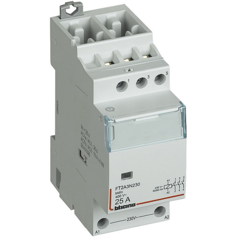 Contattore Bticino  25A 4NO 230VAC 2 Moduli FT2A4N230