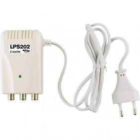 Alimentatore lineare FTE a 12 VDC e 200 mA 1 ingresso 2 uscite LPS202