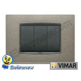 VIMAR EIKON- PLACCA 3 MODULI 20653.08