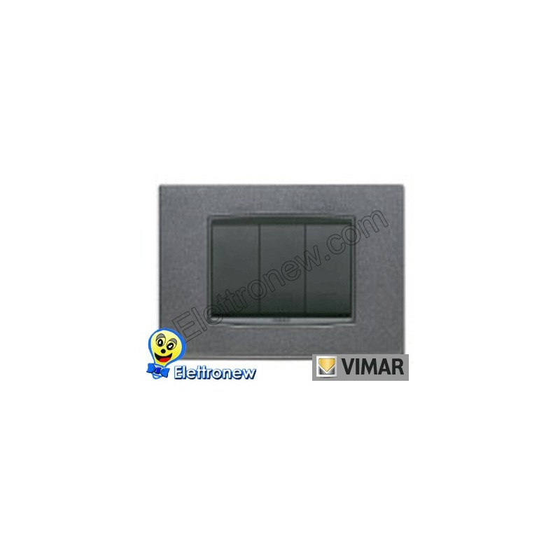VIMAR EIKON- PLACCA 3 MODULI 20653.09
