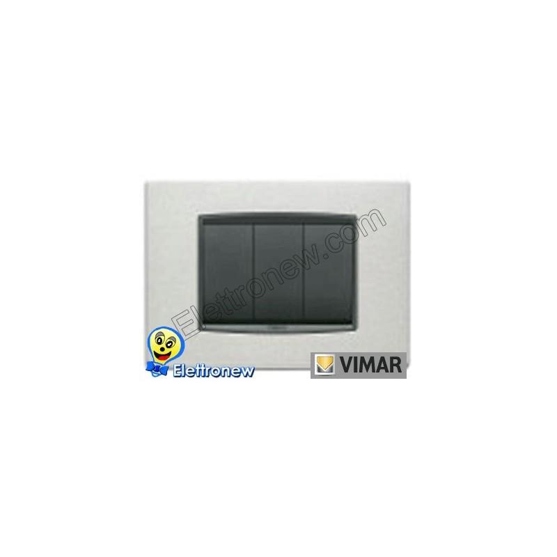 VIMAR EIKON- PLACCA 3 MODULI 20653.10