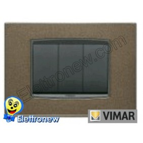 VIMAR EIKON- PLACCA 3 MODULI 20653.11
