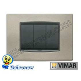 VIMAR EIKON- PLACCA 3 MODULI 20653.14