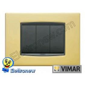 VIMAR EIKON- PLACCA 3 MODULI 20653.21