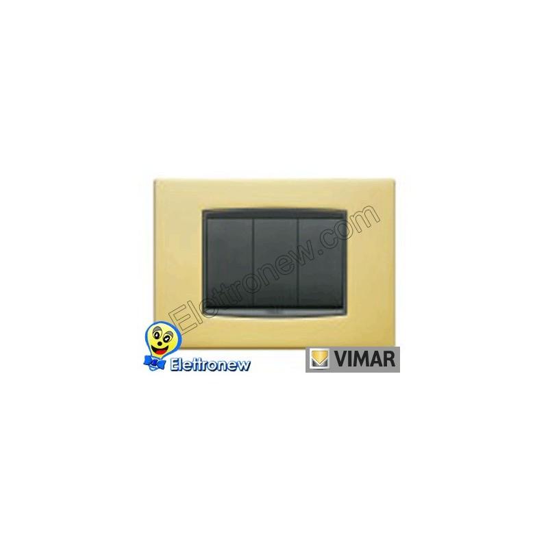 VIMAR EIKON - PLACA 3 MÓDULOS 20653.21