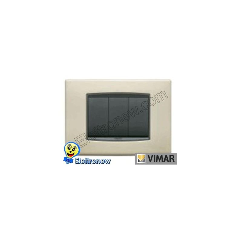 VIMAR EIKON- PLACCA 3 MODULI 20653.22