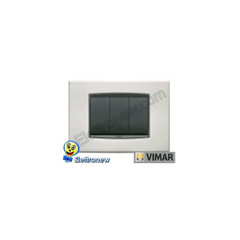 VIMAR EIKON- PLACCA 3 MODULI 20653.23