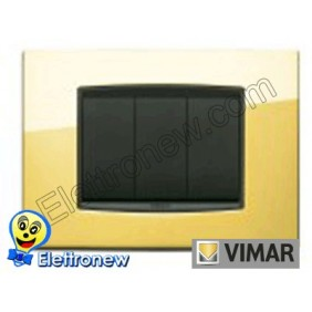 VIMAR EIKON- PLACCA 3 MODULI 20653.24