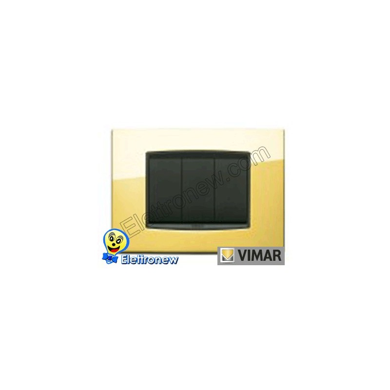 VIMAR EIKON - PLAQUE 3 MODULES 20653.24