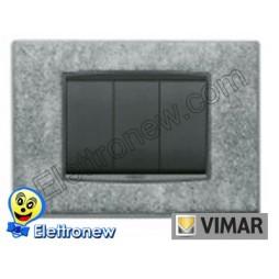 VIMAR EIKON- PLACCA 3 MODULI 20653.52