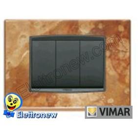 VIMAR EIKON- PLACCA 3 MODULI 20653.55
