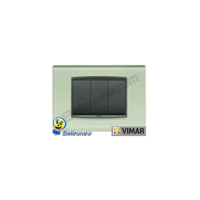 VIMAR EIKON- PLACCA 3 MODULI 20653.76