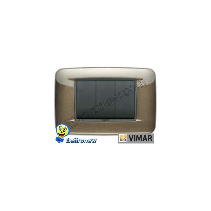 VIMAR EIKON- PLACCA 3 MODULI 20683.11