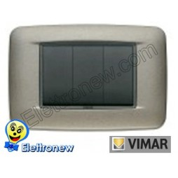 VIMAR EIKON- PLACCA 3 MODULI 20683.14