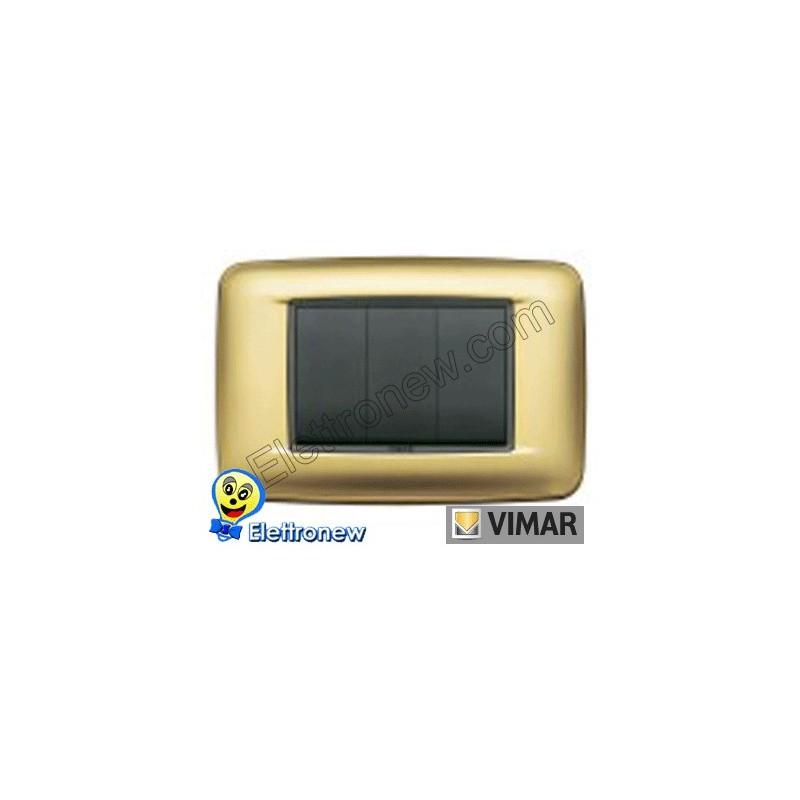 VIMAR EIKON- PLACCA 3 MODULI 20683.21