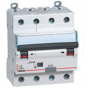Interruttore Magnetotermico Differenziale Bticino 4P 6A 30mA Tipo AC 4,5kA 4 Moduli