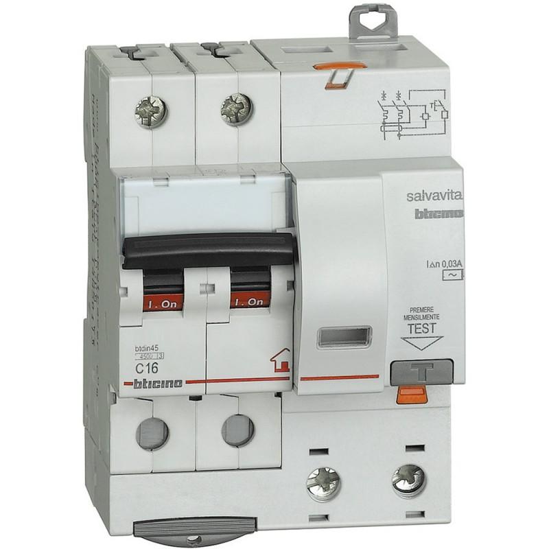 BTICINO MAGNET/DIFFERENZIALE 2 POLI G8230/16AC