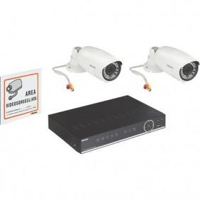 Kit videosorveglianza Bticino 2 telecamere 1 videoregistratore 8 ingressi