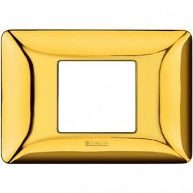 Placca Bticino Matix 2 Moduli centrati oro lucido AM4819GOR
