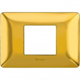 Placca Bticino Matix 2 Moduli centrati oro satinato AM4819GOS