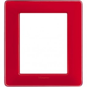 Placca Bticino Matix 3+3 Moduli colors corallo AM4826CRD