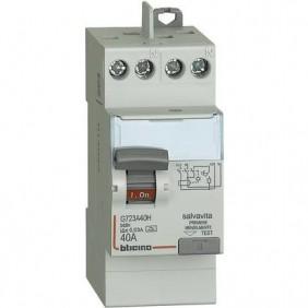 Interruttore differenziale Salvavita Bticino Puro 2P 40A 30MA G723A40H