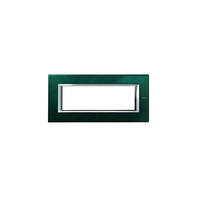 BTICINO AXOLUTE PLACCA 6 MODULI VERDE SEVRES HA4806VS