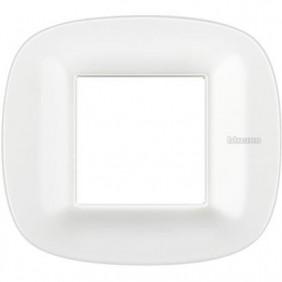 BTICINO AXOLUTE PLACCA 2 MODULI CORIAN GLACIER WHITE HB4802CGW