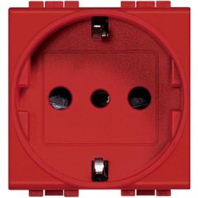 Presa Elettrica Bticino LivingLight std tedesco rossa L4140R