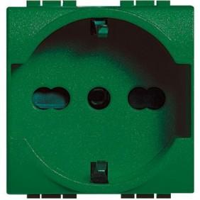 Presa Elettrica Bticino LivingLight universale 10/16A verde L4140X16V