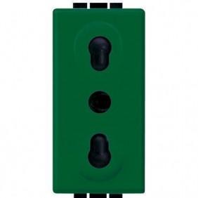 Presa elettrica Bticino LivingLight bipasso 2P+T verde L4180V