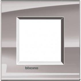 BTICINO LIVINGLIGHT PLACCA 2 MODULI QUADRA LNA4802NS