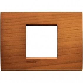 Placca 2 posti centrali quadra Bticino Living Light ciliegio americano LNA4819LCA