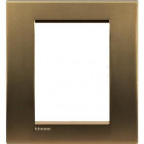 Placca Bticino LivingLight Quadra 3+3 Moduli bronzo LNA4826BZ