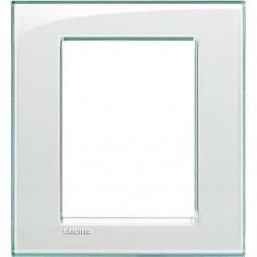 Placca Bticino LivingLight Quadra 3+3 Moduli acquamarina LNA4826KA